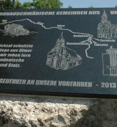 Három sváb település emlékműve - Gedenkmal der drei Gemeinden